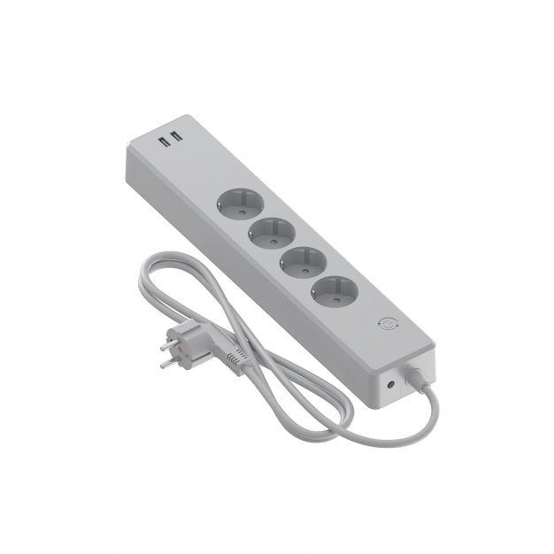 Calex Smart Stekkerdoos  4 stopcontacten + 2 USB poorten - bediening via de app - geschikt voor EU/NL