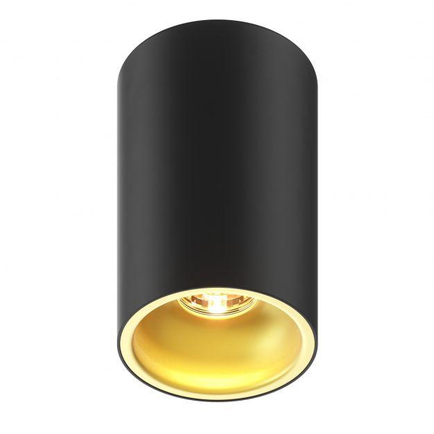 Zuma Line Deep SL - opbouwspot - Ø 9,6 x 14cm - zwart en goud