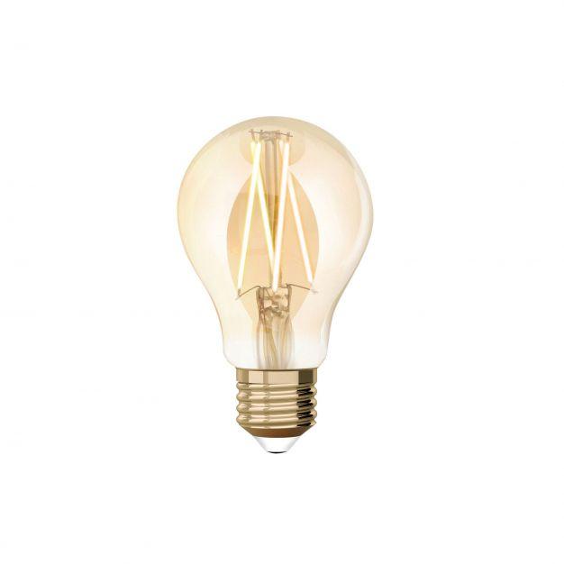 iDual LED-lamp zonder afstandsbediening - Ø 6 x 10,8 cm - E27 - 9W dimbaar - 2200K tot 5500K - amber