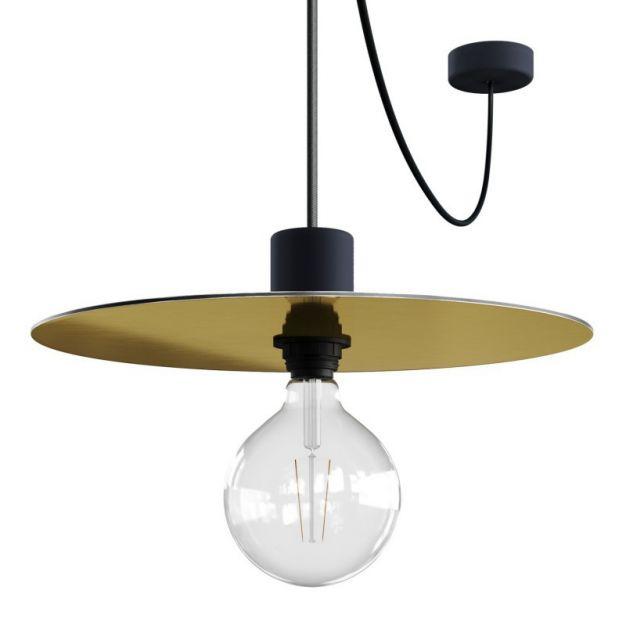 Creative Cables Elegant - hanglamp - Ø 40 x 514,8 cm - IP65 - koper en goud (omwisselbaar)
