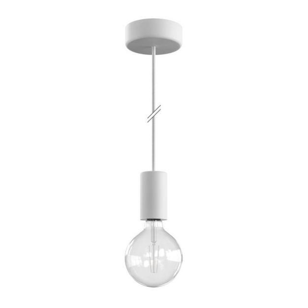 Creative Cables Eiva - buitenhanglamp met siliconen plafondbevestiging - Ø 12,5 x 164,5 cm - IP65 - wit