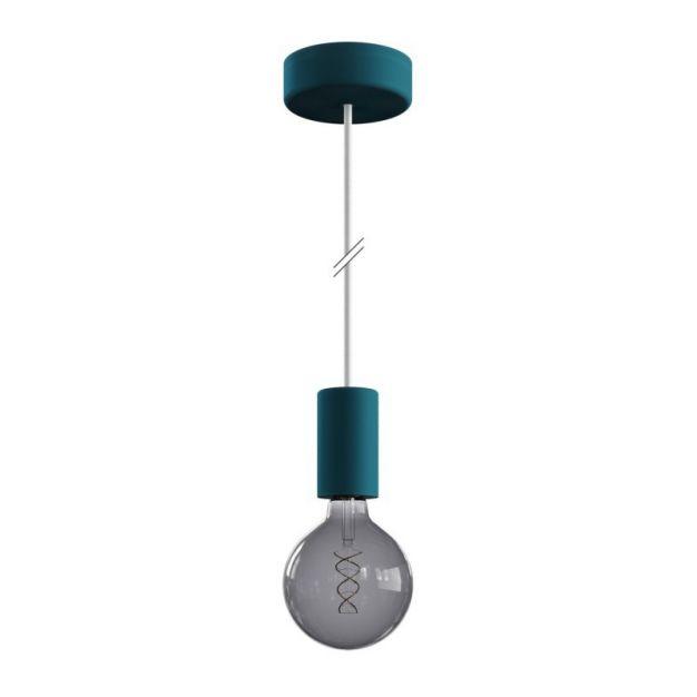Creative Cables Eiva - buitenhanglamp met siliconen plafondbevestiging - Ø 12,5 x 164,5 cm - IP65 - petrol