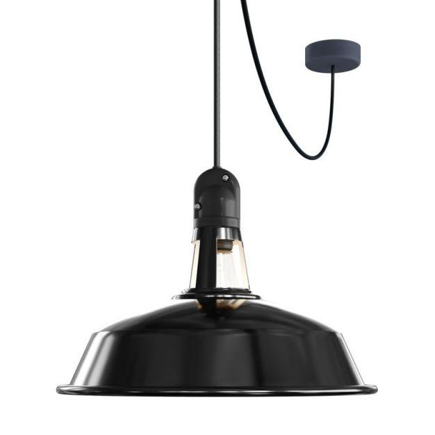 Creative Cables Eiva - hanglamp - Ø 37 x 525,6 cm - IP65 - zwart