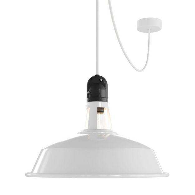 Creative Cables Eiva - hanglamp - Ø 37 x 525,6 cm - IP65 - wit