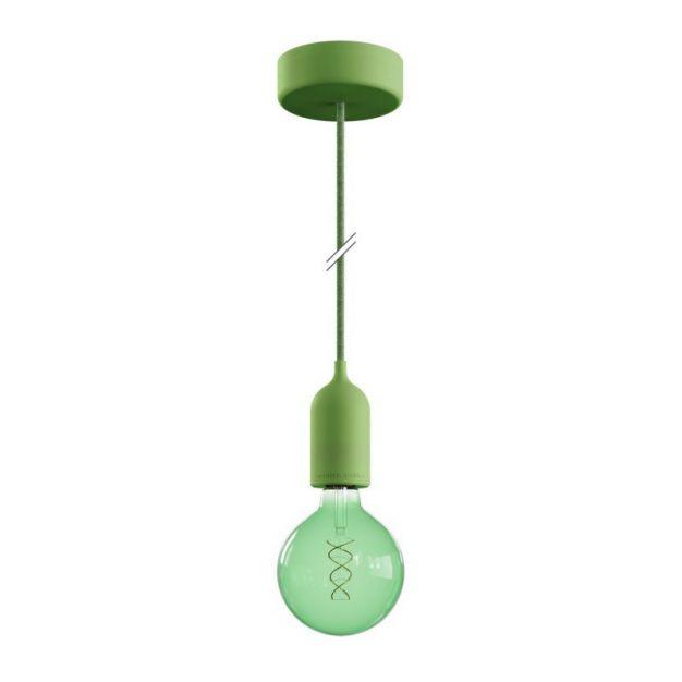 Creative Cables Eiva Pastel - buitenhanglamp met siliconen plafondbevestiging - Ø 12,5 x 164,5 cm - IP65 - zachtgroen