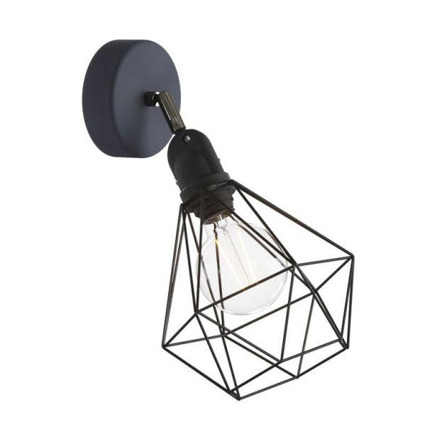 Creative Cables Eiva - buiten- en/of badkamerwandlamp met siliconen bevestiging - Ø 12,5 x 21 x 20 cm - IP65 - zwart
