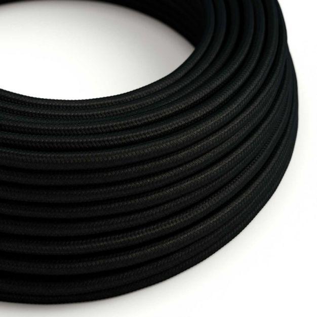 Creative Cables - textielsnoer - per 100 cm - zwart