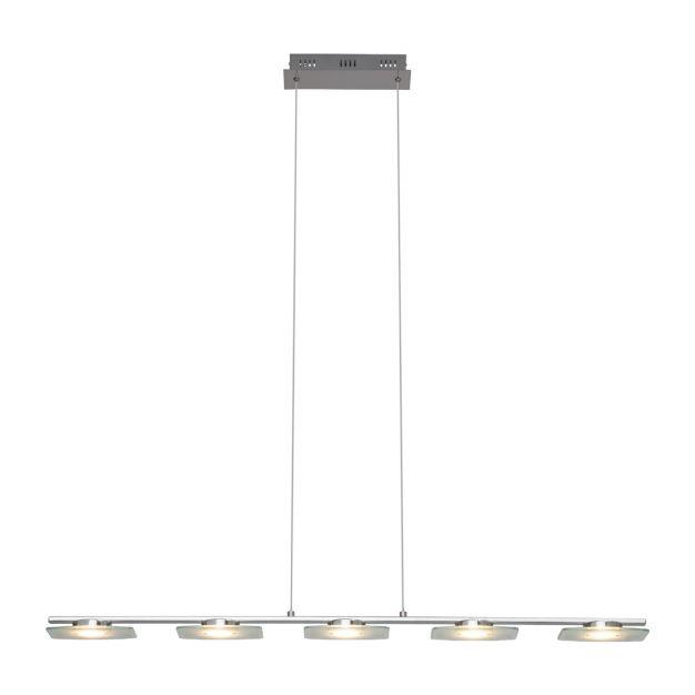 Brilliant Arlena 5 - hanglamp - 105 x 115 cm - 6 x 6W LED incl. - chroom, transparant