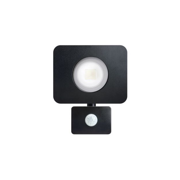 Integral Compact - verstraler met bewegingssensor - 'always on-modus' - 15 x 17,6 x 7,6 cm - 30W incl. - IP64 - zwart