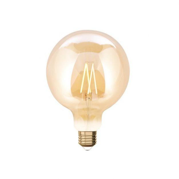 iDual LED-lamp zonder afstandsbediening - Ø 12,5 x 17,5 cm - E27 - 9W dimbaar - 2200K tot 5500K - amber