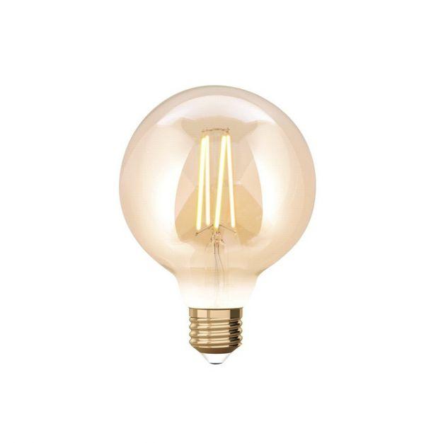 iDual LED-lamp zonder afstandsbediening - Ø 9,5 x 14 cm - E27 - 9W dimbaar - 2200K tot 5500K - amber