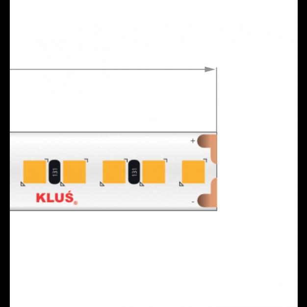 KLUS LED strip - 1cm breed, 500cm lengte - 24Vdc - dimbaar - 18,2W LED per meter - IP20 - 2700K
