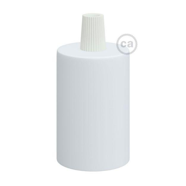 Creative Cables - E27 fitting met conische plastieken kabelhouder - Ø 4,2 x 6,2 cm - wit