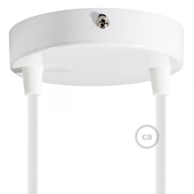 Creative Cables - plafondrozet voor 2 lichtpunten -  Ø 12 x 2,5 cm - wit