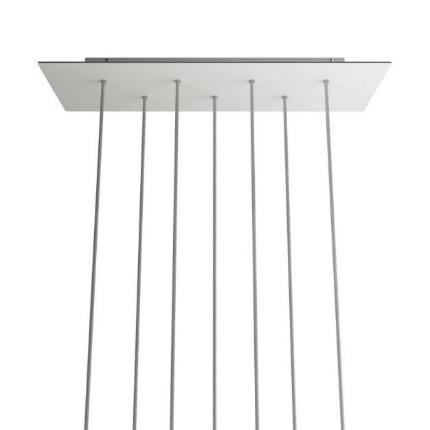 Creative Cables - Rose-One Rechthoekig plafondrozet voor 7 lichtpunten - 67,5 x 22,5 cm - wit