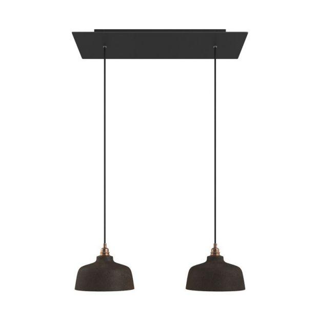 Creative Cables Coppa - hanglamp 2L - 67,5 x 120 cm - zwart