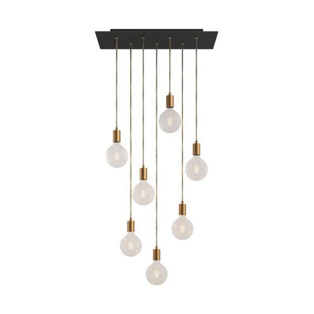 Creative Cables - hanglamp 7L - 67,5 x 130 cm - zwart