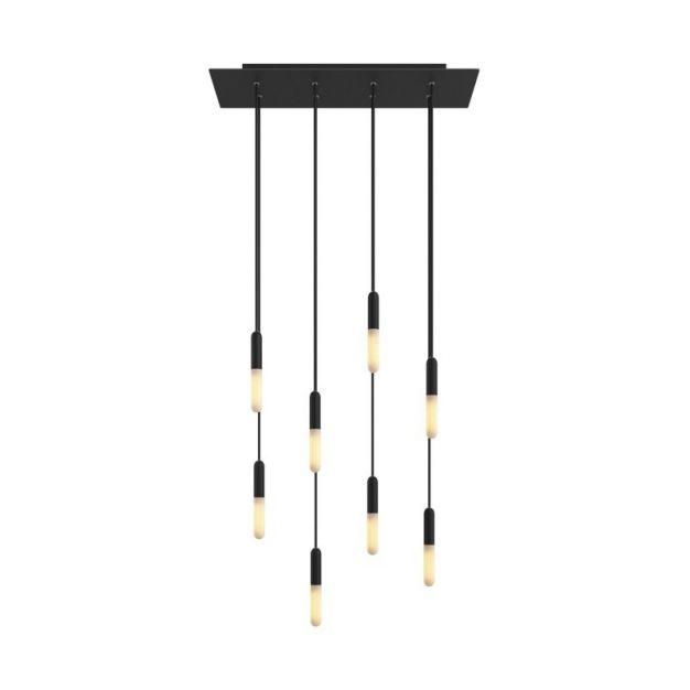 Creative Cables - hanglamp 8L - 67,5 x 130 cm - zwart