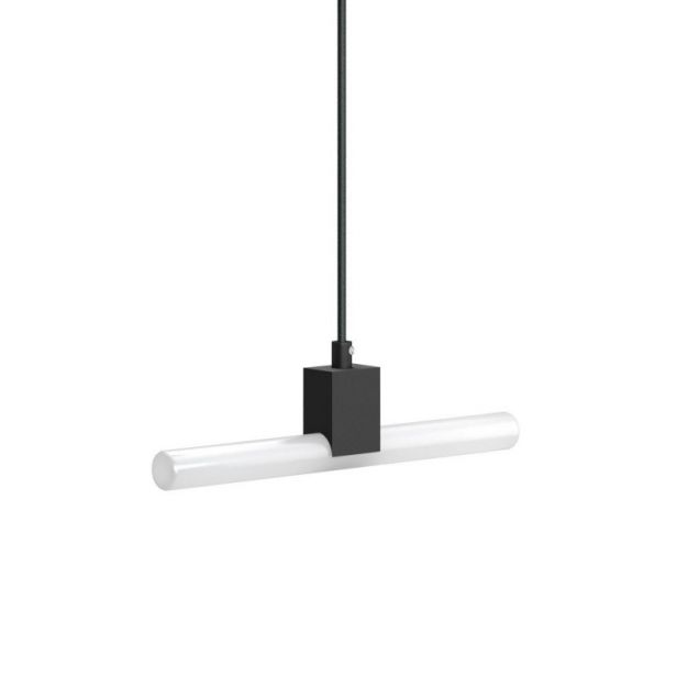 Creative Cables - hanglamp 1L - 12 x 200 cm - S14d - zwart