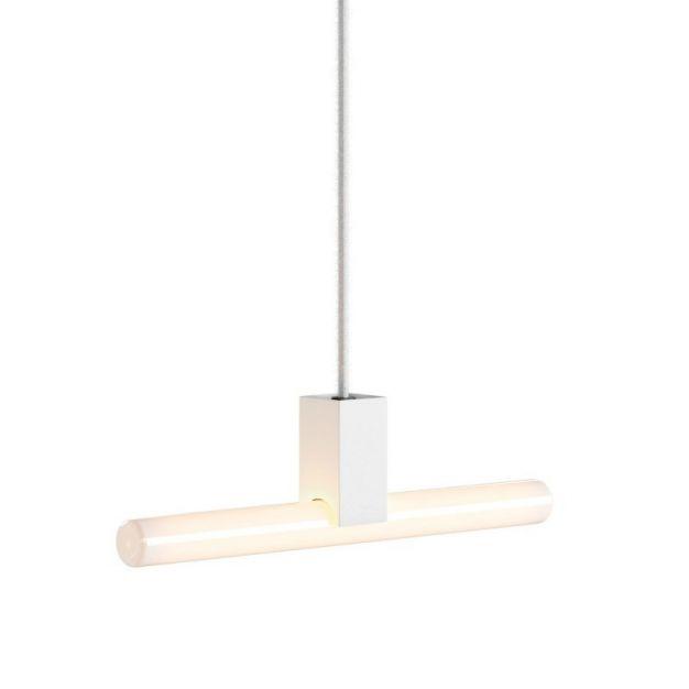 Creative Cables - hanglamp 1L - 12 x 200 cm - S14d - wit