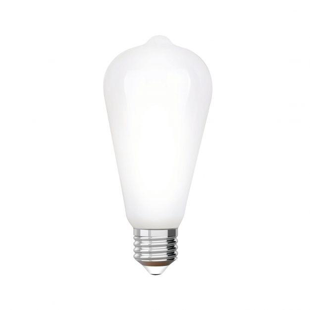 iDual LED-lamp zonder afstandsbediening - Ø 6,4 x 14 cm - E27 - 9W dimbaar - 2200K tot 6500K - melkglas