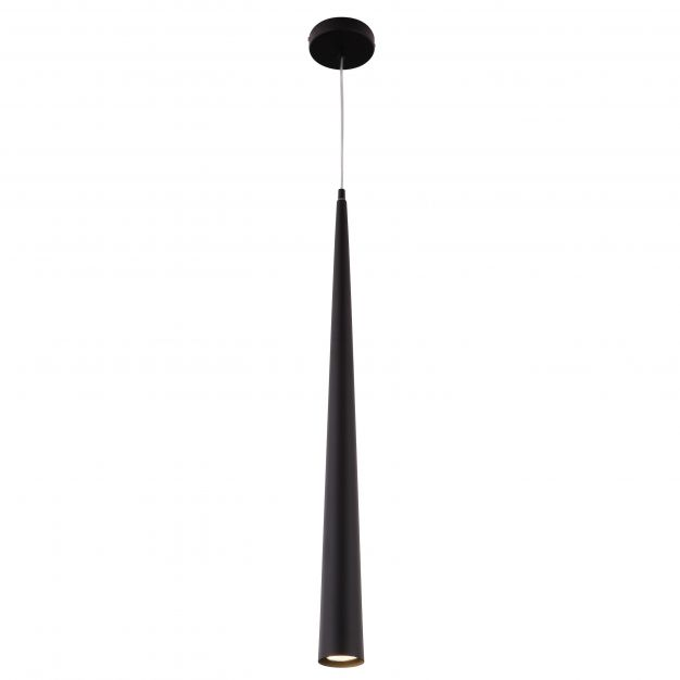 Maxlight Slim 100 cm - Ø 7 x 145 cm - 50W halogeen incl. - zwart
