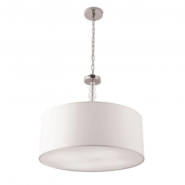 Maxlight Elegance - hanglamp - Ø 45 x 120 cm - wit en chroom