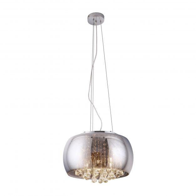 Maxlight Moonlight - hanglamp - Ø 40 x 145 cm - chroom