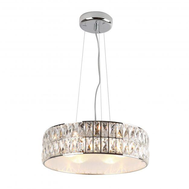 Maxlight Diamante - hanglamp - Ø 38 x 135 cm - chroom