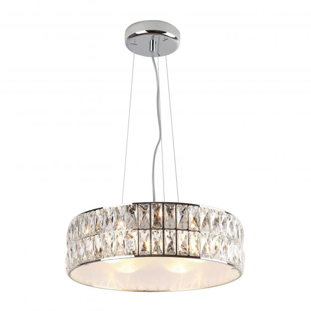 Maxlight Diamante - hanglamp - Ø 46 x 135 cm - chroom