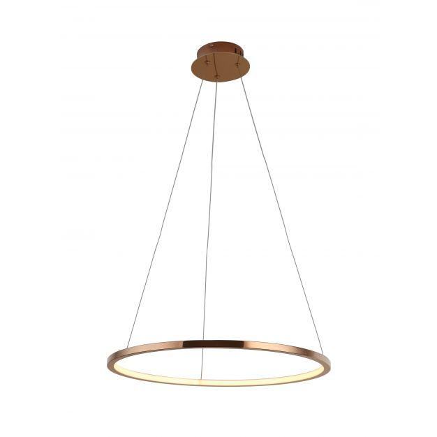 Maxlight Queen - ronde hanglamp - 50 x 158 cm - 14W LED incl. - koper kleur