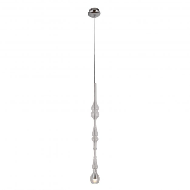 Maxlight Murano - hanglamp - Ø 6 x 190 cm - 3W LED incl. - chroom