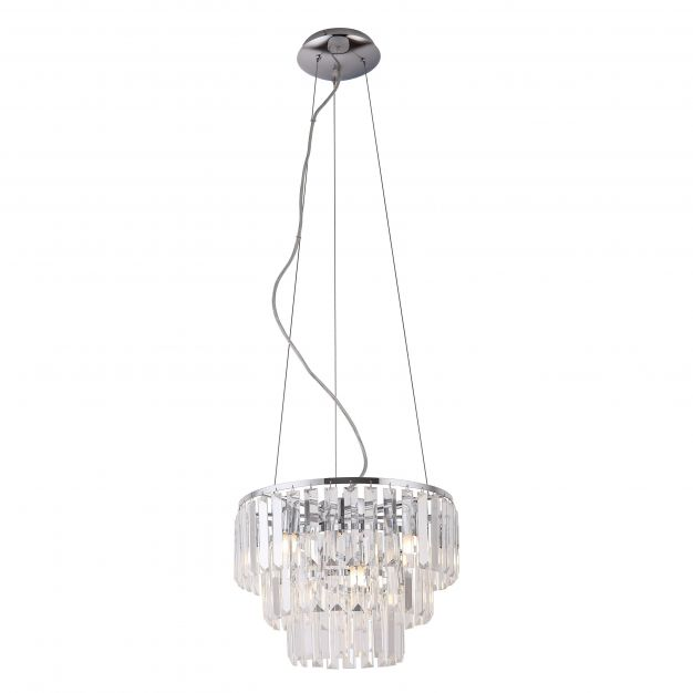 Maxlight Monaco - hanglamp - Ø 42 x 150 cm - chroom