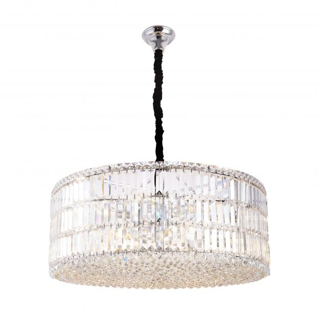 Maxlight Puccini - hanglamp - Ø 80 x 120 cm - chroom en zwart