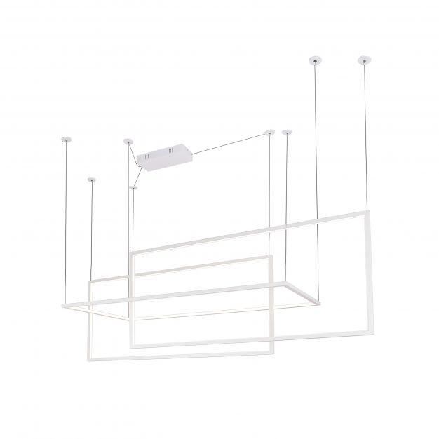 Maxlight Geometric - hanglamp - 145 x 180 cm - 3 x 26,6W LED incl. - wit