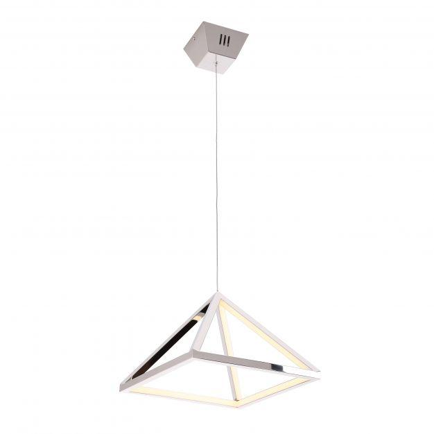 Maxlight Peak - hanglamp - Ø 30 x 180 cm - 20W LED incl. - chroom