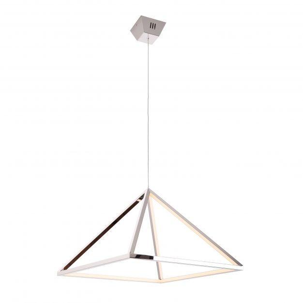 Maxlight Peak - hanglamp - Ø 40 x 180 cm - 28W LED incl. - chroom