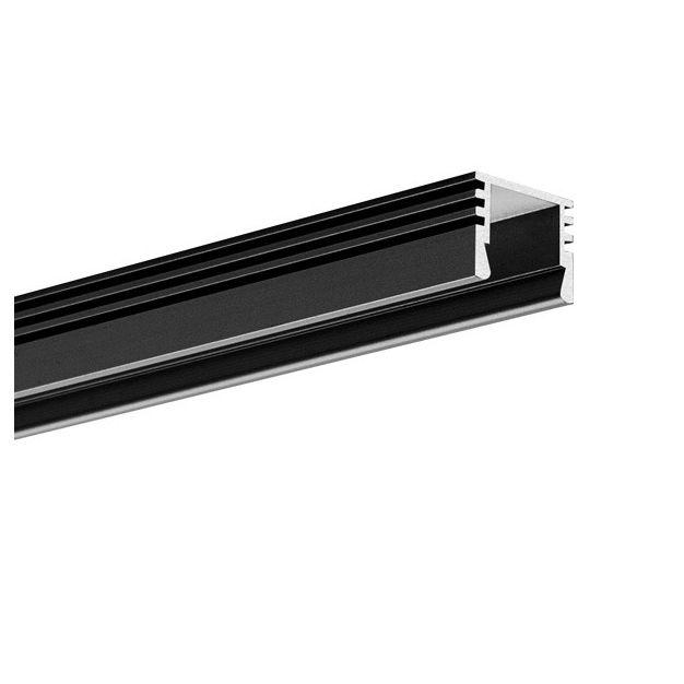 KLUS PDS-4-ALU - LED profiel - 1,3 x 1 cm - 200cm lengte - zwart