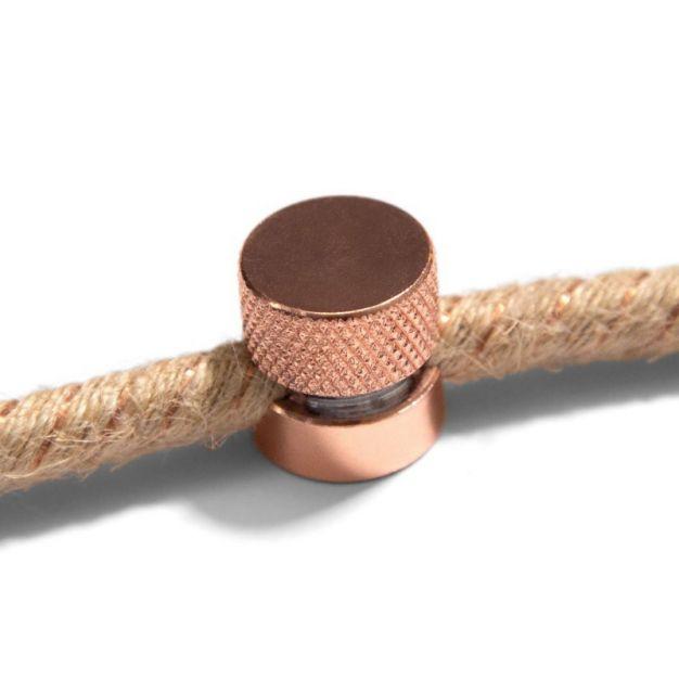 Creative Cables Sarè - metalen plafond/wand bevestigingspunt - ø 1,6 cm - koper