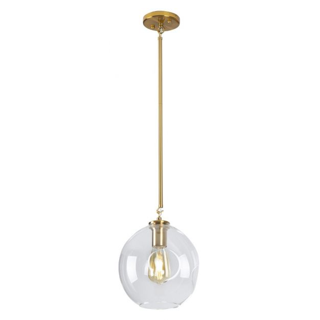 Maxlight Spirit - hanglamp - Ø 22 x 135 cm - goud en transparant