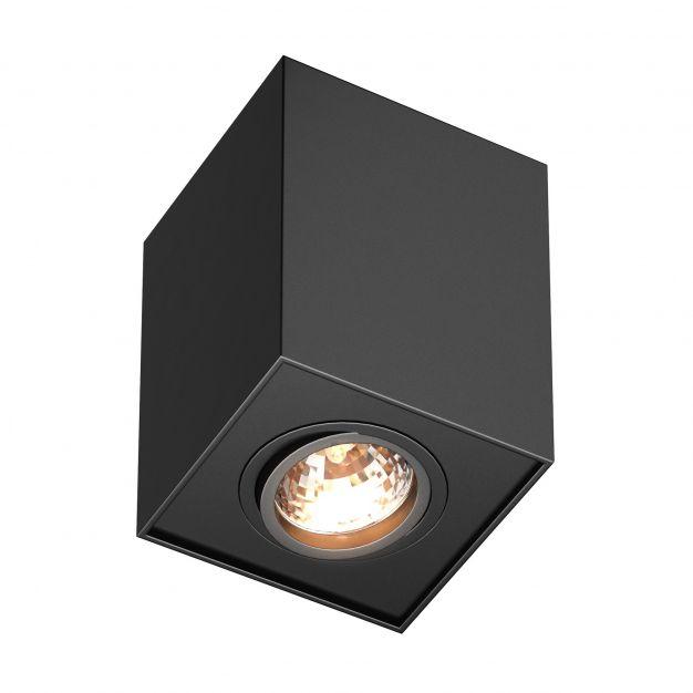 Zuma Line Quadro - opbouwspot - 9,6 x 9,6 x 12 cm - zwart