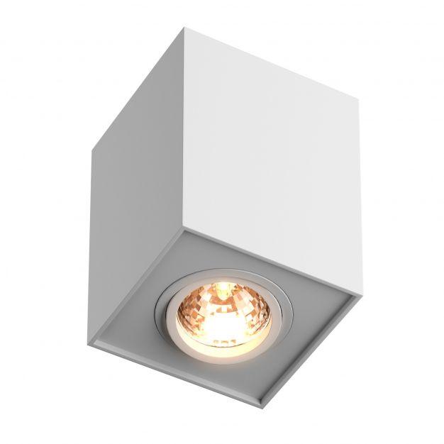Zuma Line Quadro - opbouwspot - 9,6 x 9,6 x 12 cm - wit