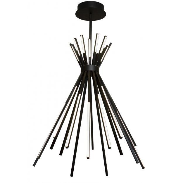 Maxlight Tipi - hanglamp - Ø 68 x 110 cm - 88W LED incl. - zwart