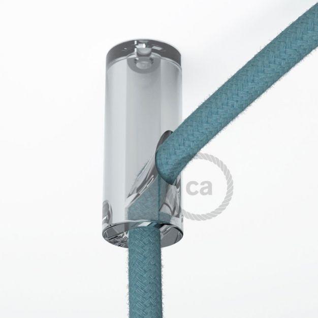 Creative Cables - decentralisatiepunt - Ø 2 x 4 cm - transparant