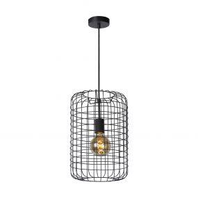 Lucide Esmee - hanglamp - Ø 26 x 172 cm - zwart
