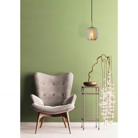Lucide Agatha - hanglamp - Ø 18 x 163 cm - mat goud en messing