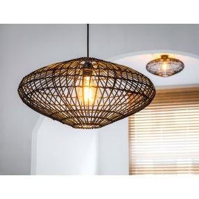 Lucide Magali - hanglamp - Ø 56 x 160 cm - zwart