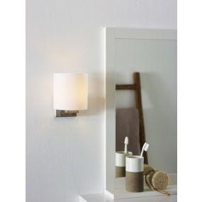 Lucide Jenno - wandlamp badkamer - 12 x 14,8 x 14,8  cm - IP44 - mat chroom