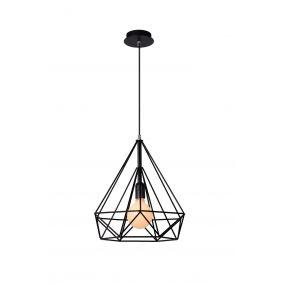 Lucide Ricky - hanglamp - Ø 37,5 x 120 cm - zwart