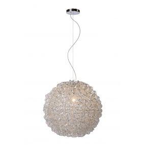 Lucide Noon - hanglamp - Ø 47 x 152 cm - satijn chroom